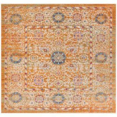 Sutton Gold/Ivory 6 ft. x 6 ft. Square Area Rug