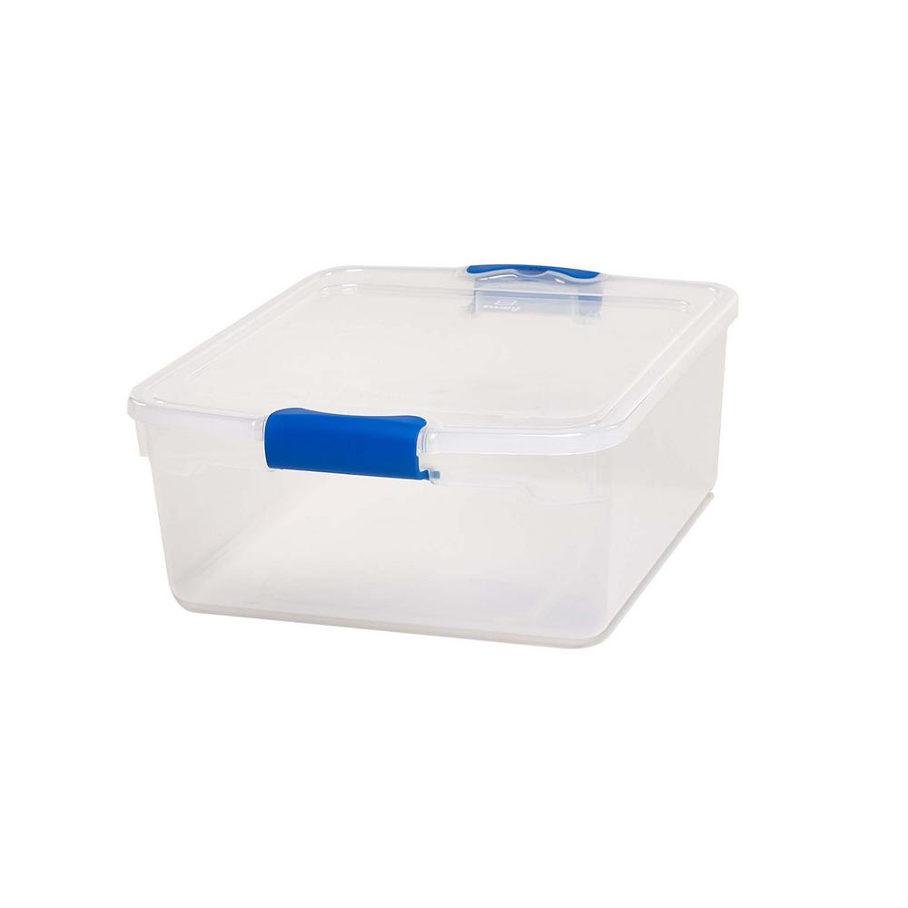 15.5 Qt. Latching Clear Storage Box (4 Pack)