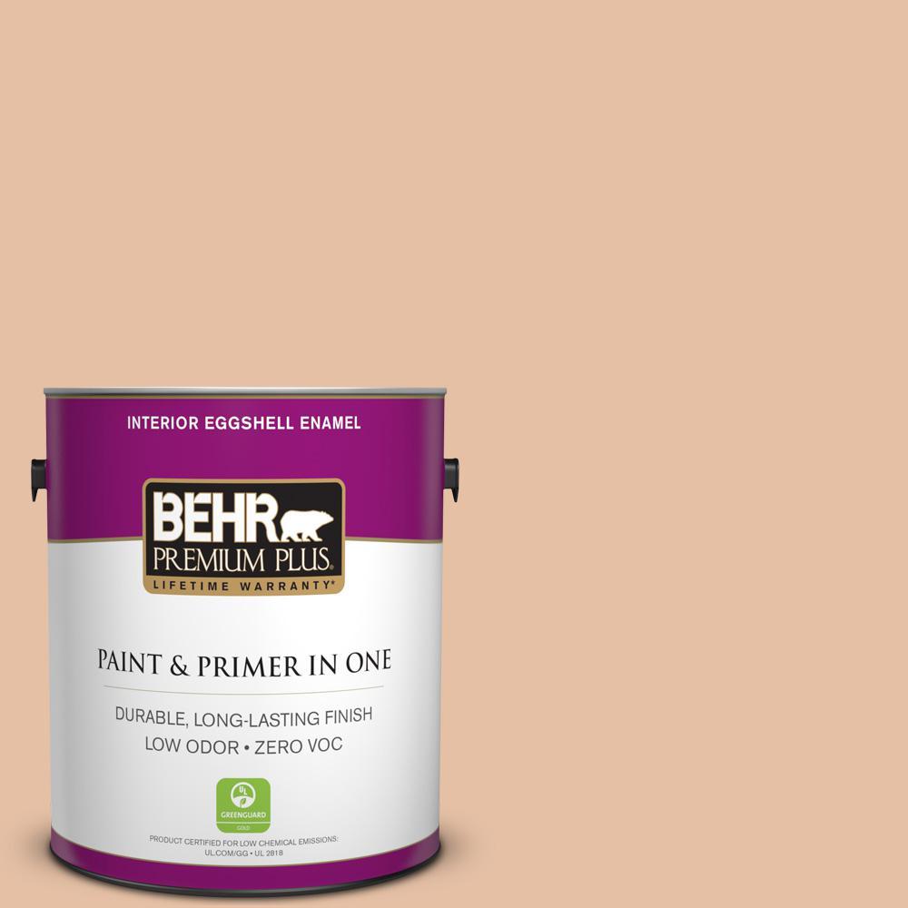 BEHR Premium Plus 1-gal. #BIC-01 Fabulous Fawn Eggshell Enamel Interior Paint