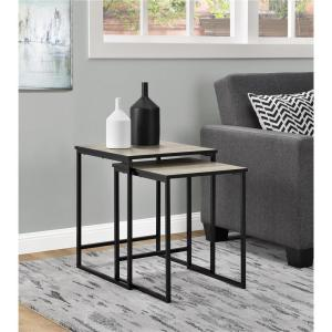 Altra Furniture Stewart Sonoma Oak 2 Piece Nesting End Table 5027196COM    The Home Depot