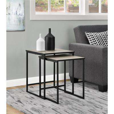Stewart Sonoma Oak 2-Piece Nesting End Table
