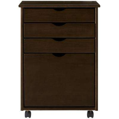 Stanton 20 in. W 4-File Storage Cart in Chestnut