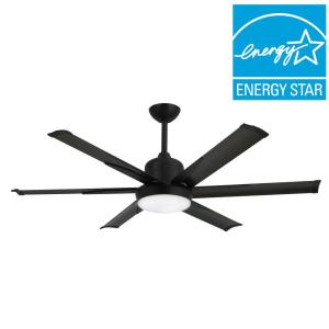 TroposAir DC 6 52 In. Indoor/Outdoor Oil Rubbed Bronze Ceiling Fan And  Light 88451   The Home Depot