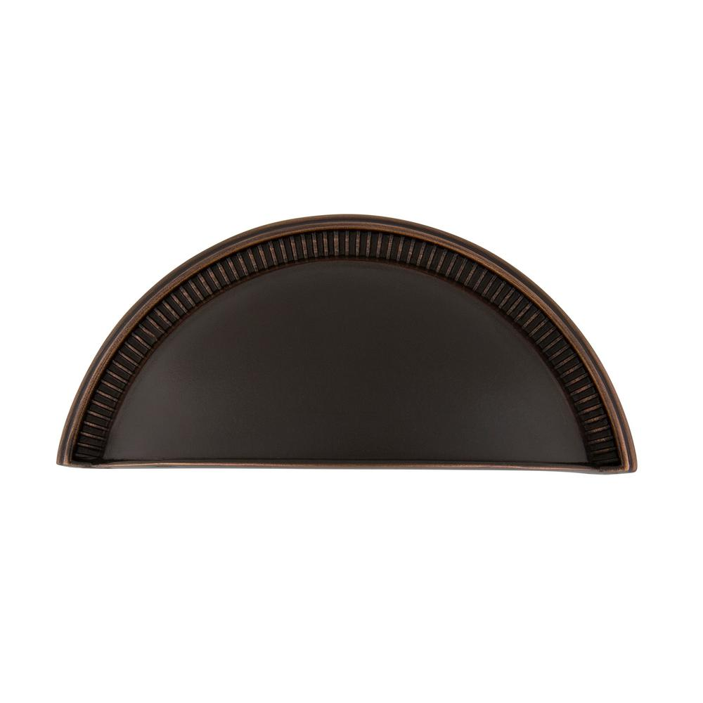 Nostalgic Warehouse 3 in. (76 mm) Timeless Bronze Drawer Cup Pull Soleil