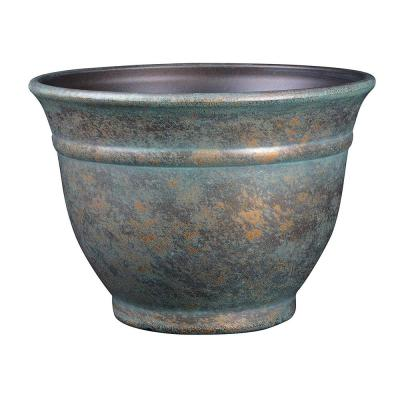 12 in. Weathered Copper Alena Resin Planter