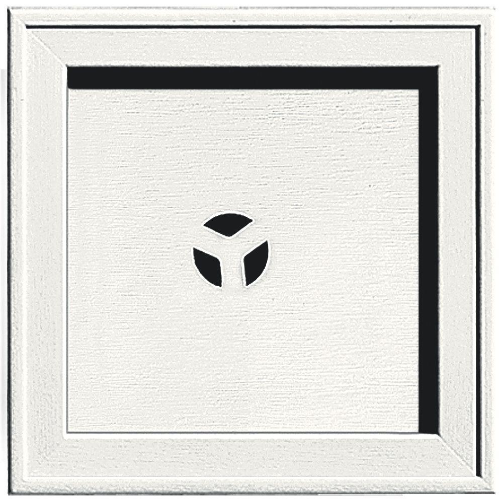 7.75 in. x 7.75 in. #123 White Recessed Square Mounting Block
