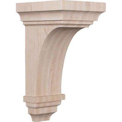 7 in. x 14 in. x 7-3/4 in. Cherry Jumbo Jefferson Wood Corbel
