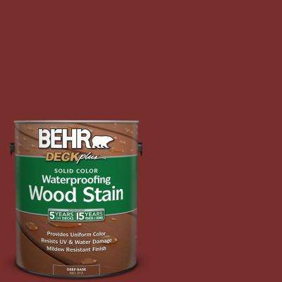 1 gal. #PPU2-2 Red Pepper Solid Color Waterproofing Wood Stain
