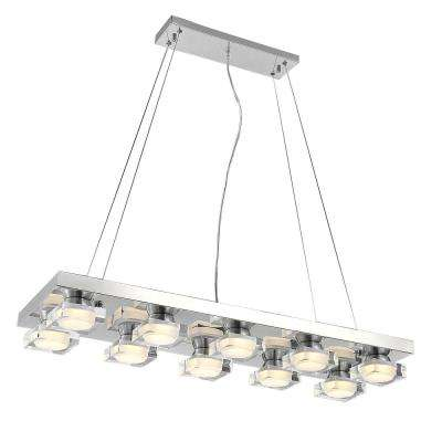 Paulina 4-Watt Chrome Integrated LED Chandelier