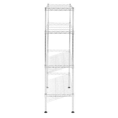 Carrie35.8 in. 4-Tier Chrome Shoe Rack