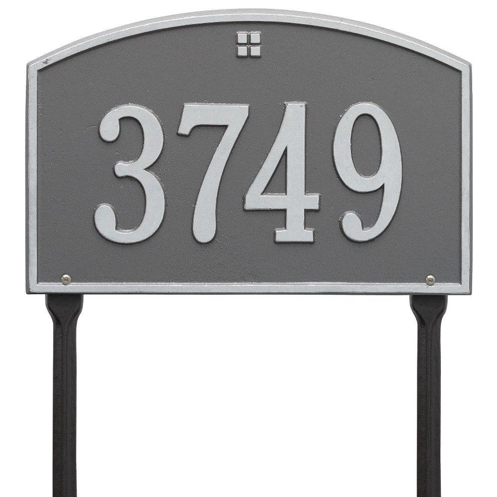 Cape Charles Standard Rectangular Pewter/Silver Lawn 1-Line Address Plaque