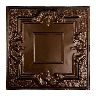 Niagara 2 ft. x 2 ft. Nail-up Tin Ceiling Tile in Bronze Burst