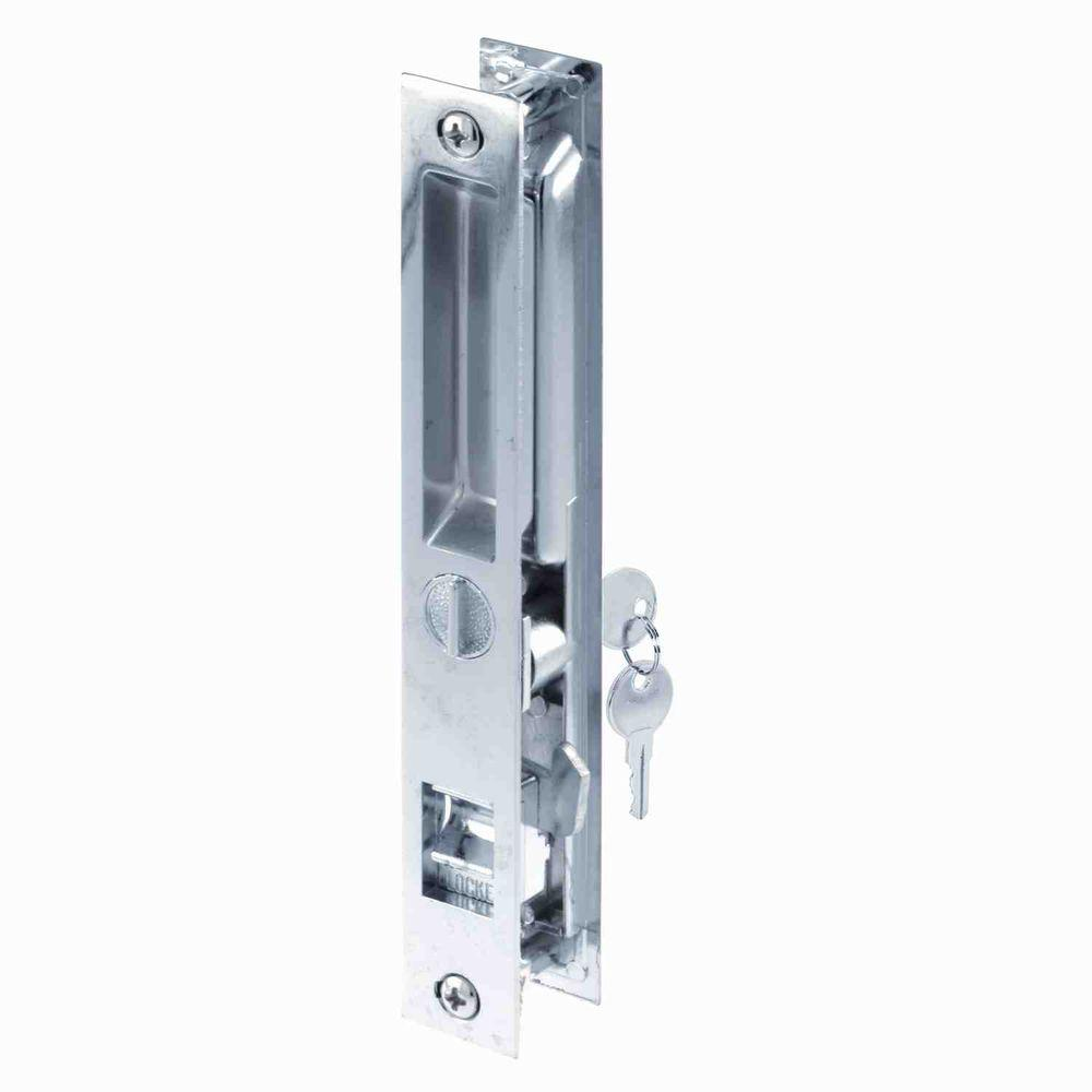 prime line 3 3 4 in satin nickel pocket door privacy latch n 7367