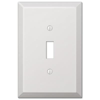 Oversized 1 Gang Toggle Steel Wall Plate - White