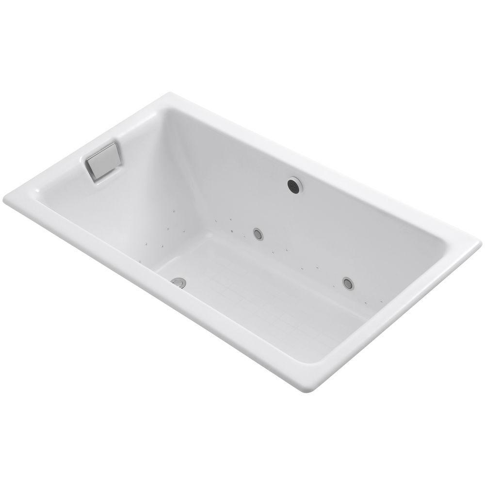 Tea-for-Two 5.5 ft. Air Bath Tub in White