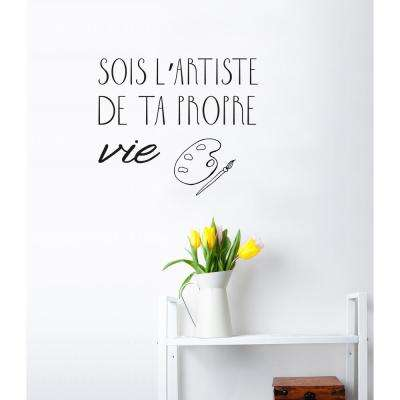 (22 in x 19 in) Sois artiste Wall Decal