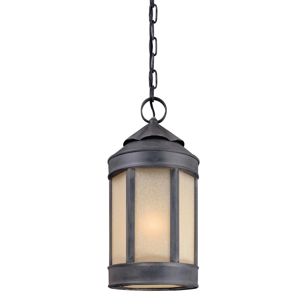 Troy Lighting Andersons Forge 1-Light Antique Iron Outdoor Pendant