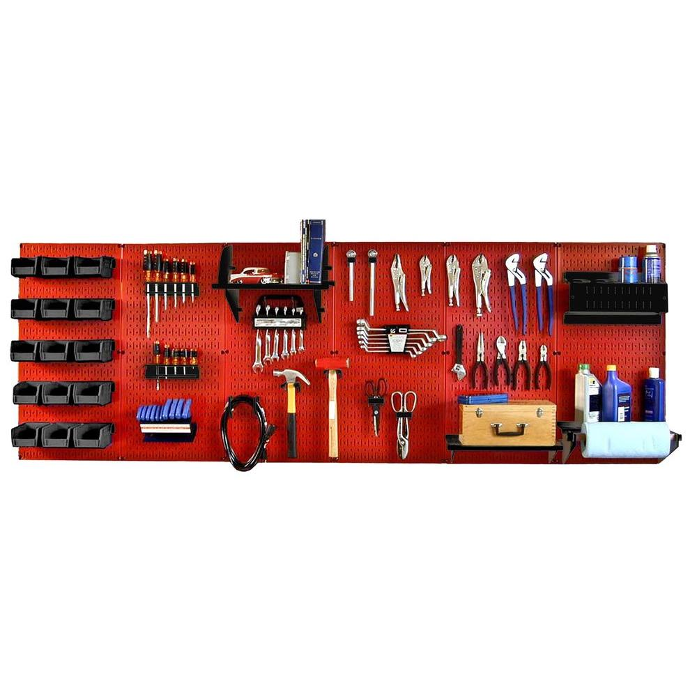 Wall Control 32 in. x 96 in. Metal Pegboard Master Workbe...