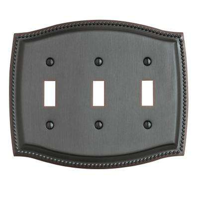 Rope 3 Toggle Wall Plate - Venetian Bronze