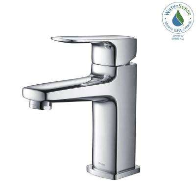 Virtus Single Hole Single-Handle High-Arc Vessel Bathroom Faucet in Chrome