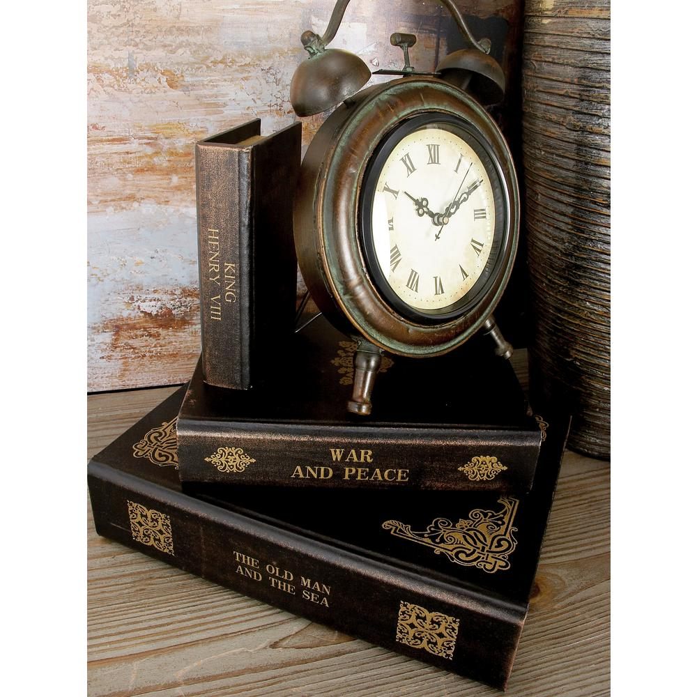 MDF Wood and Synthetic Leather Vintage Classic Book Decorative Boxes (Set