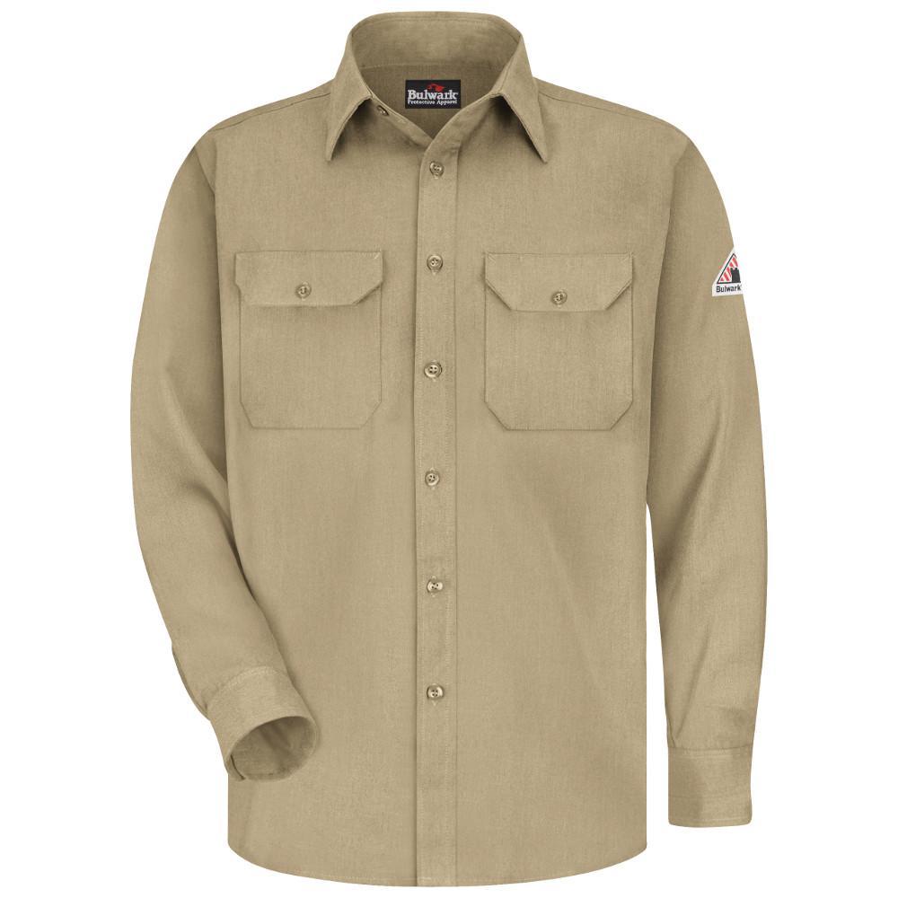 CoolTouch Men's Small Khaki Uniform Shirt