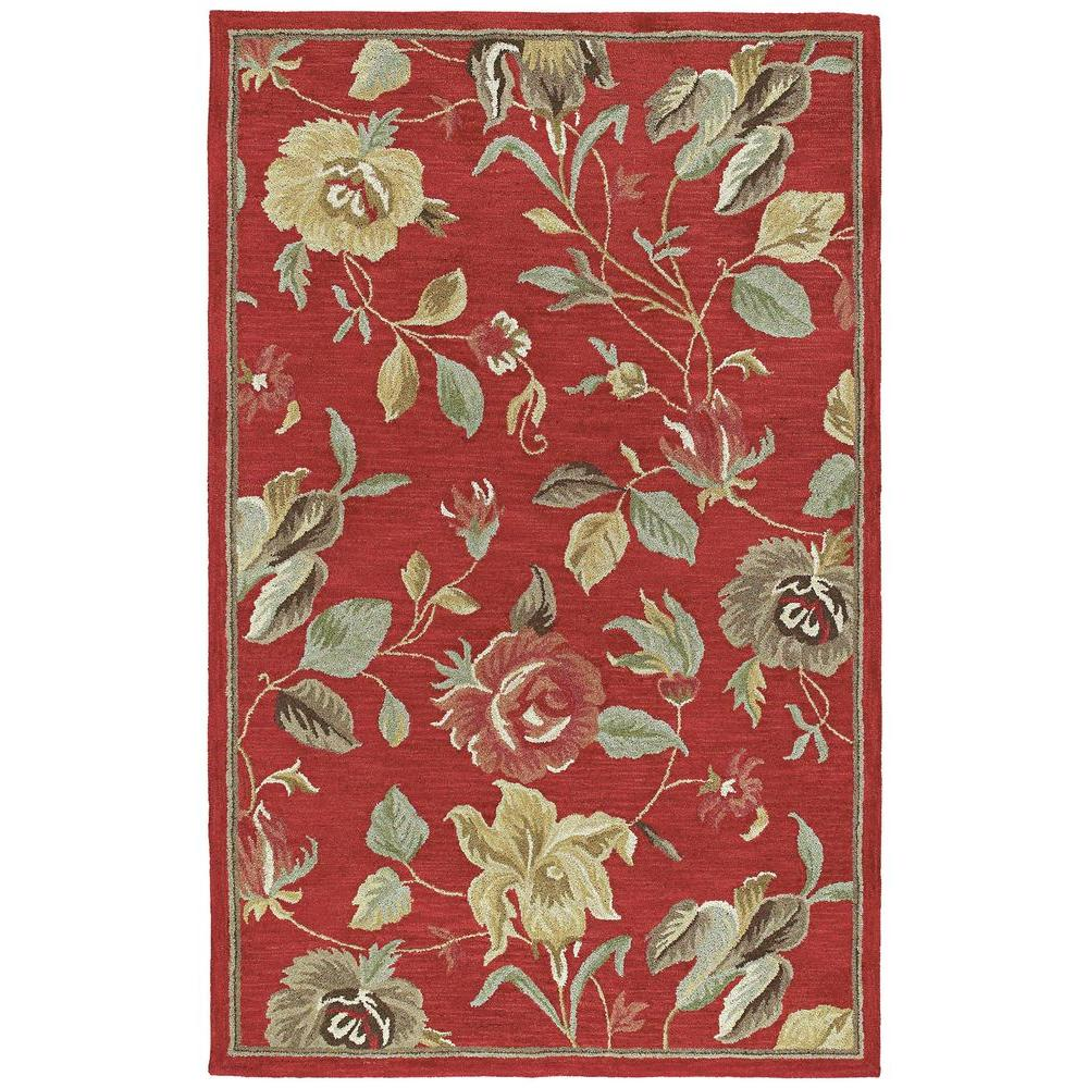 Kaleen Khazana Savannah Red 5 ft. x 7 ft. 9 in. Area Rug