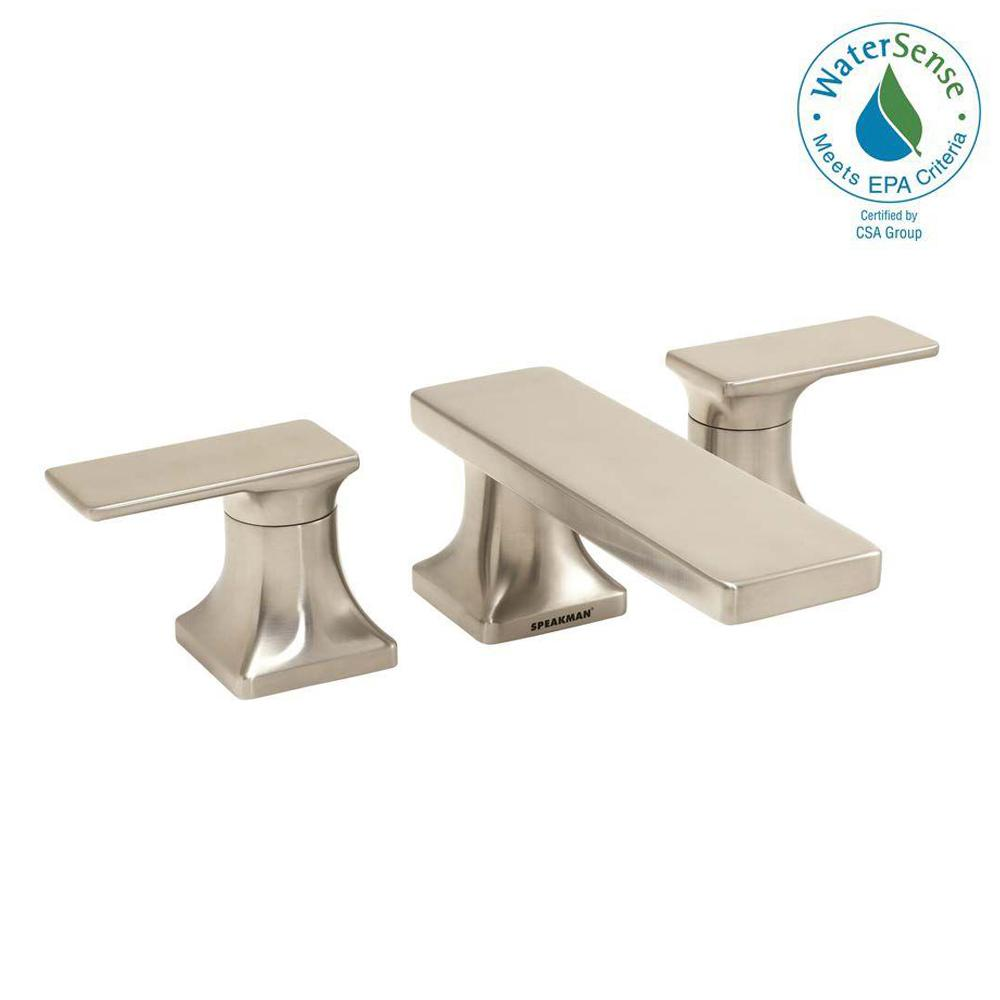 The Edge 2-Handle Deck-Mount Roman Tub Faucet in Brushed Nickel