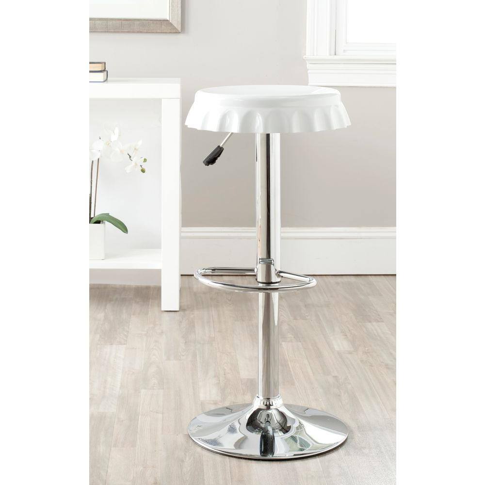 Safavieh Bunky Adjustable Height Chrome Bar Stool Fox7505a