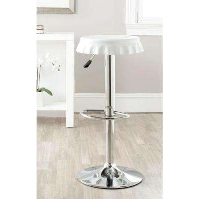bunky adjustable height chrome bar stool black white red