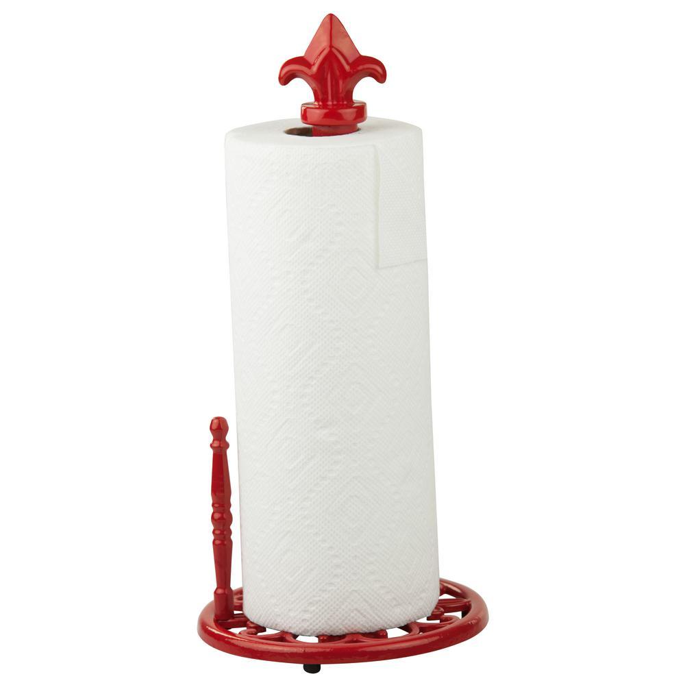 Home Basics Cast Iron Fleur De Lis Paper Towel Holder Ph44390 The