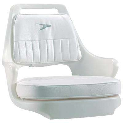 Standard Pilot Chair Package with Chair Cushion Set and Mounting Plate, White