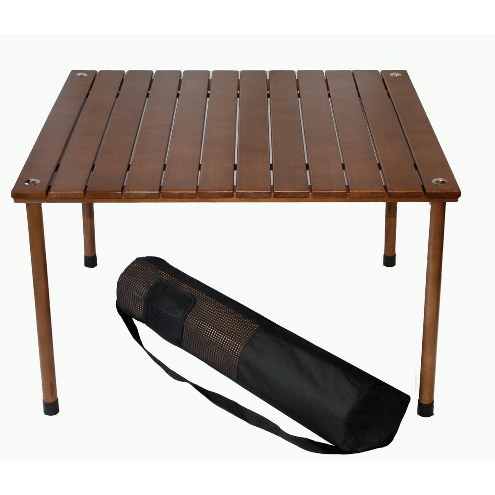 Tiab Table In A Bag Brown Wood Folding Outdoor Picnic