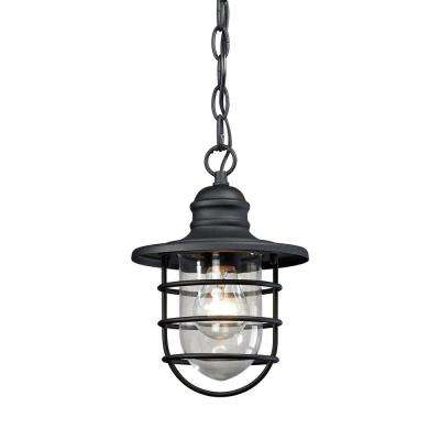 Vandon 1-Light Charcoal Outdoor Wall Sconce