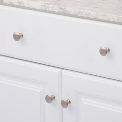 1-1/8 in. Brushed Nickel Contemporary and Modern Knob