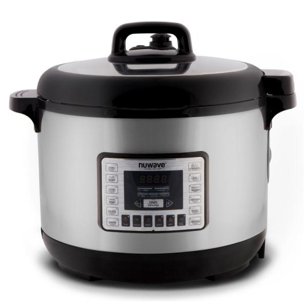GoWISE USA 8 Qt. Stainless Steel Electric Pressure Cooker with Stainless