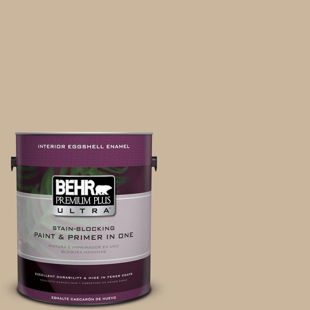 BEHR Premium Plus Ultra 1-gal. #PPU4-7 Mushroom Bisque Eggshell Enamel Interior Paint