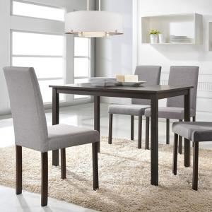 Andrew 5-Piece Gray Fabric Upholstered Dining Set