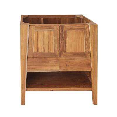 Significado 30 in. L Teak Vanity Cabinet Only in Natural Teak