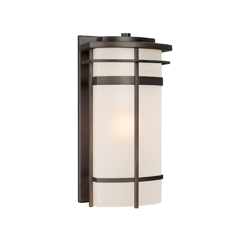 Filament Design Johnson 1-Light Old Bronze Incandescent Outdoor Wall Lantern