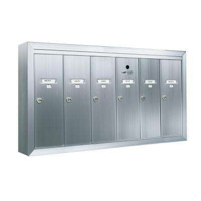 1250 Vertical Series 6-Compartment Aluminum Surface-Mount Mailbox