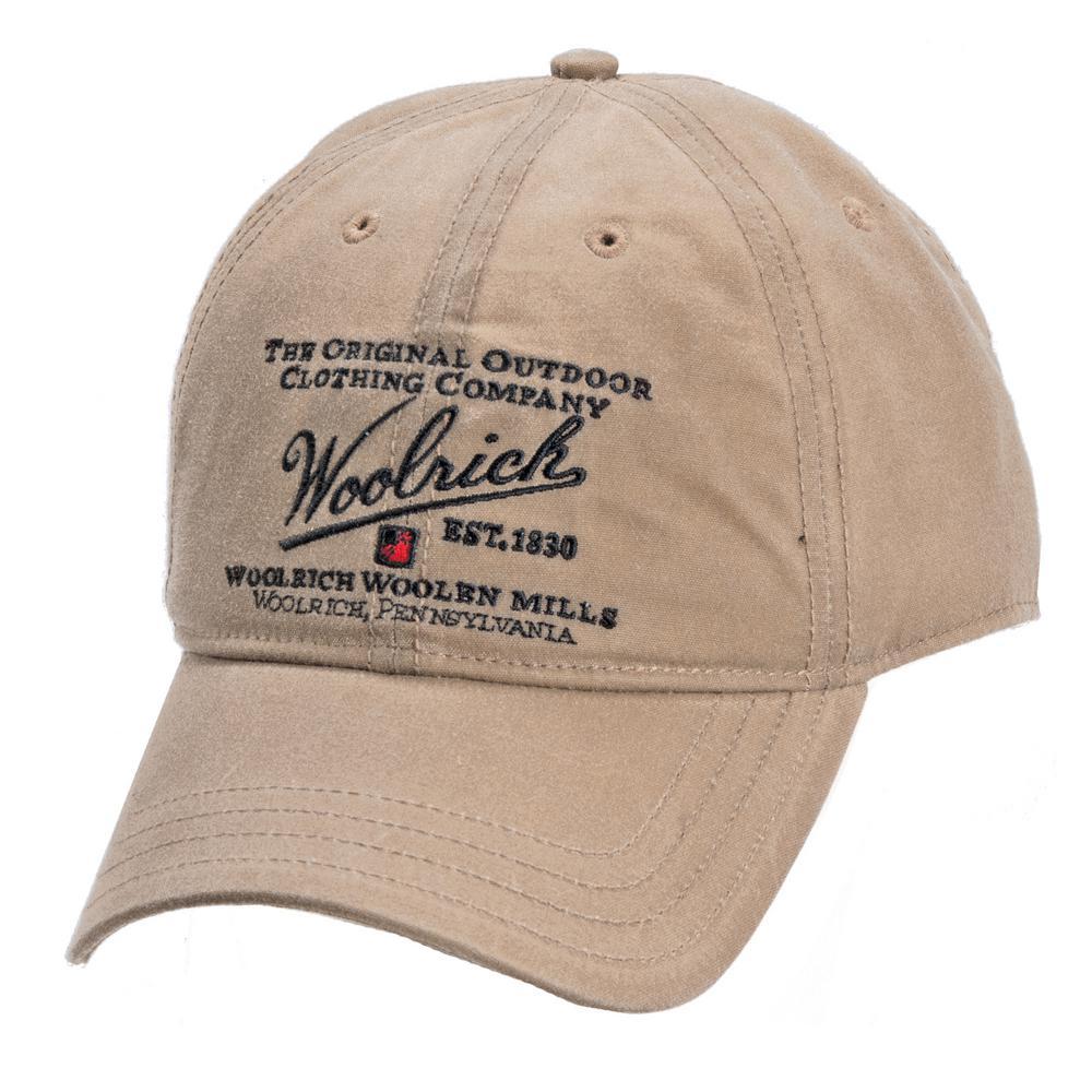 Woolrich Oil Cloth Baseball Cap-W1619-TAN - The Home Depot 2397bc8b55a