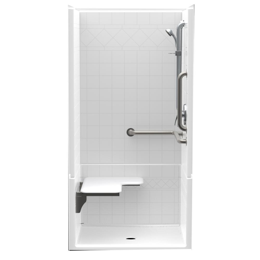 Accessible Diagonal Tile AcrylX ANSI Configured 36in. x 36in. x 76in.