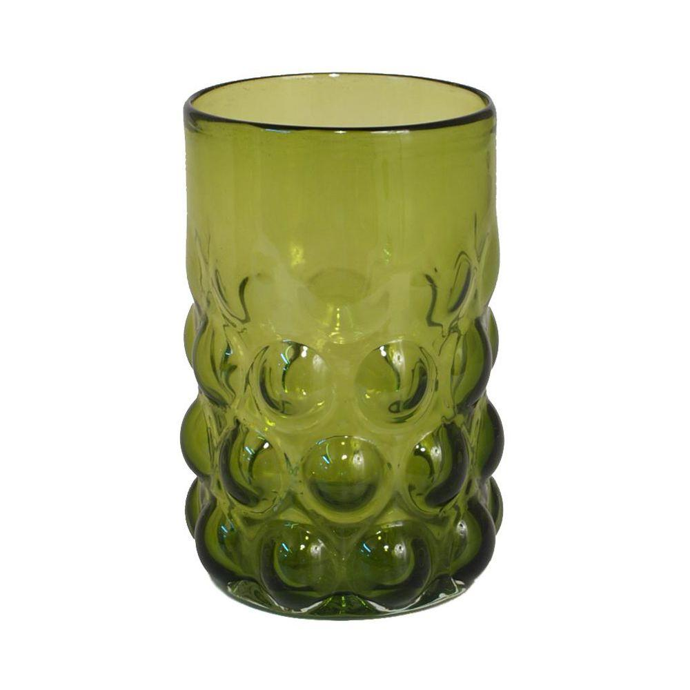 Home Decorators Collection 4.5 in. W Jameson Green Hurricane Glass Candle Holder