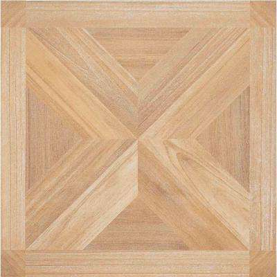 Nexus Maple 12 in. x 12 in. Peel and Stick Parquet Vinyl Tile (20 sq. ft. / case)