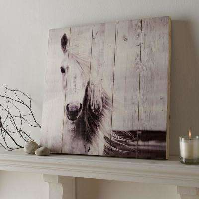 19.7 in. x 19.7 in. Horse by Graham and Brown Wooden Wall Art