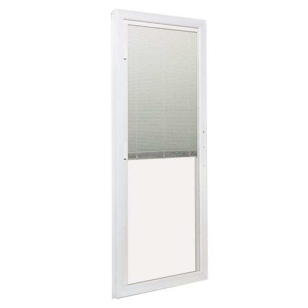 Andersen 72 In X 80 In 200 Series Perma Shield White Left Hand Moving Panel Sliding Patio Door With Blinds 9139502 The Home Depot
