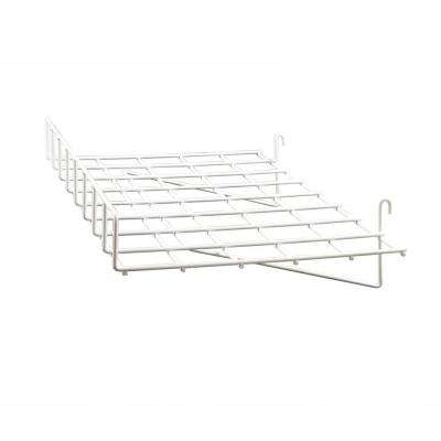 24 in. W x 15 in. D Straight Chrome Shelf with Front Lip