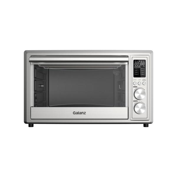 1.1 cu. ft. 1800 Watt 6-Slice Stainless Steel Toaster Oven with Convection, Air Fryer and Rotisserie
