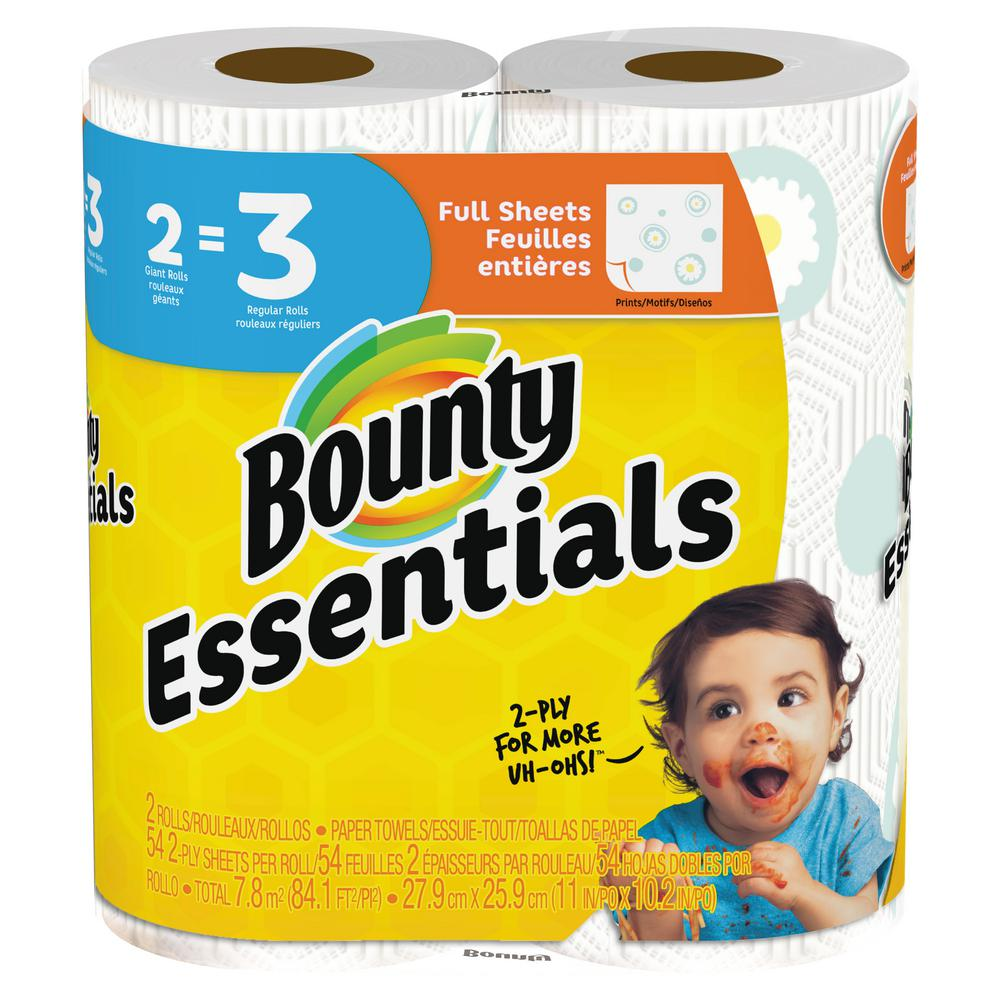 Essentials Printed Paper Towels (2-Giant Rolls)